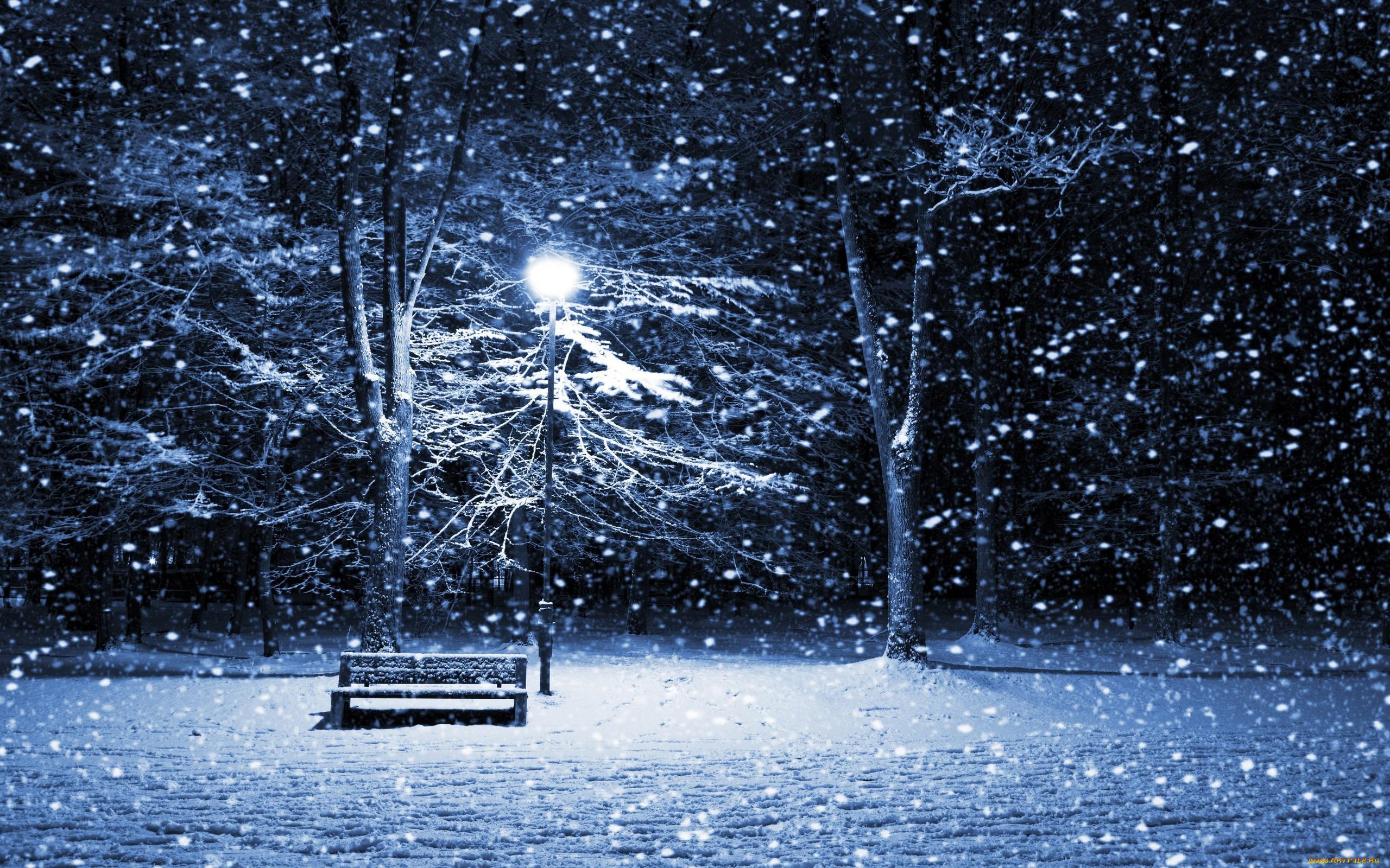 Зима ночь улица фонарь аптека